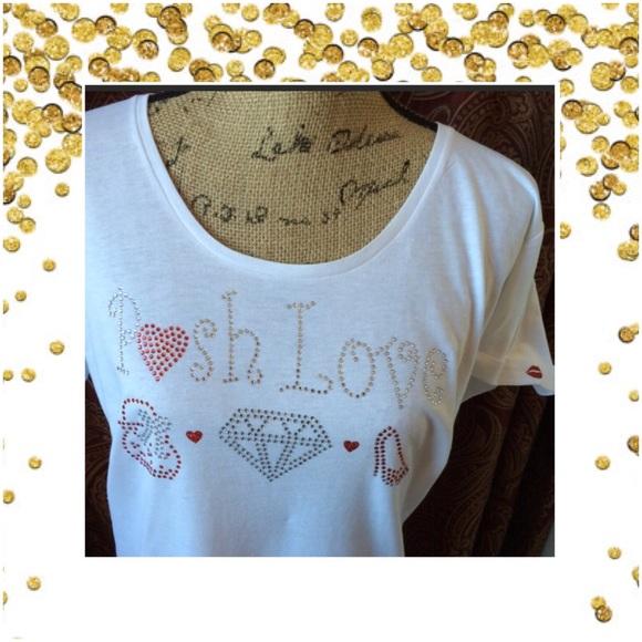 Posh Love Tops - Posh Love fits 1X 💎 Bling T fits 14ladies💎